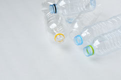 Empty polycarbonate plastic bottles Stock Photo