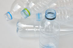 Empty polycarbonate plastic bottles Royalty Free Stock Image