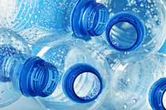 Empty polycarbonate plastic bottles of mineral Stock Image