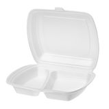 Empty polystyrene container for fast food Stock Images