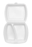 Empty polystyrene container for fast food. Isolated on white background Royalty Free Stock Image