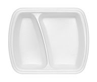 Empty polystyrene container for fast food. Isolated on white background Royalty Free Stock Photos