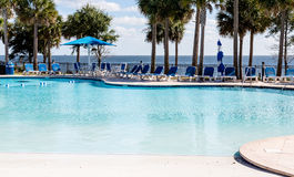 Empty Pool by Ocean Royalty Free Stock Photography