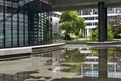 Empty pool in passage, Stuttgart Royalty Free Stock Photography