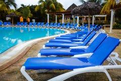 Empty Pool in resort Royalty Free Stock Photo