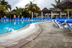 Empty Pool in resort Royalty Free Stock Image