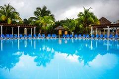 Empty Pool in resort Stock Photos