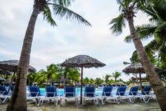 Empty Pool in resort Stock Image