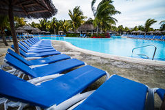 Empty Pool in resort Royalty Free Stock Photography