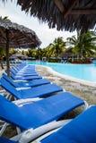 Empty Pool in resort Royalty Free Stock Photos