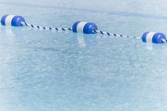Empty Pool With Lane Markers Stock Photo