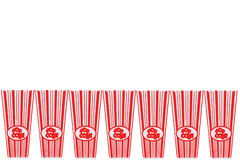 Empty Pop Corn Containers Royalty Free Stock Photo