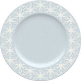 Empty porcelain clay plate with decorative frame Royalty Free Stock Images