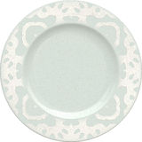Empty porcelain clay plate with decorative frame Stock Photo
