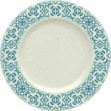 Empty porcelain clay plate with decorative frame Stock Image