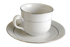 Empty porcelain cup Royalty Free Stock Photo