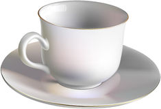 Empty porcelain cup Royalty Free Stock Images