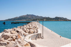Empty port in Zakynthos Stock Images