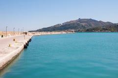 Empty port in Zakynthos Stock Photography