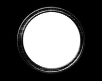 Empty porthole. On a solid black background Royalty Free Stock Photo