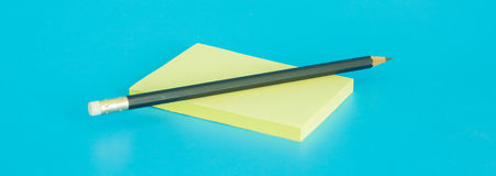 Empty Post-It with Pencil Stock Photos