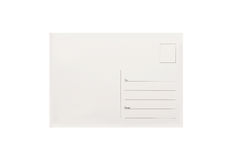 Empty postcard Stock Photography