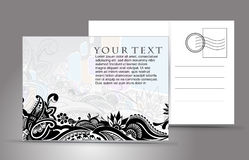 Empty postcard Royalty Free Stock Photo