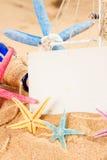 Empty postcard with starfish Stock Photos