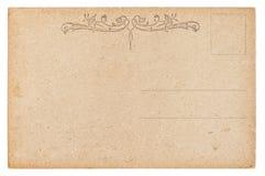 Empty postcard. Vintage retro style paper background Stock Photo
