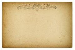 Empty postcard. Vintage retro style paper background Royalty Free Stock Photo