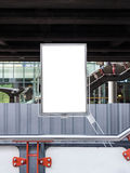 Empty Poster in Construction Site Royalty Free Stock Photography