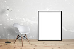 Empty poster frame for mockup Royalty Free Stock Photo