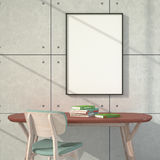 Empty poster. Light through the window. Royalty Free Stock Photography
