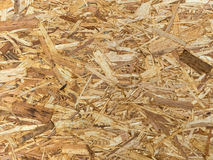 Empty poster stand. An empty poster stand made of pressed wood shavings. copy space and background Royalty Free Stock Images