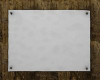 Empty poster on wooden board royalty free stock photos