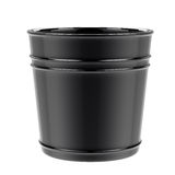 Empty pot isolated on white. 3d rendering empty pot isolated on white royalty free stock photo