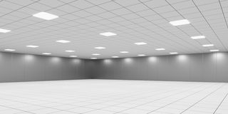Empty Powered Shell Data Center Room Stock Image