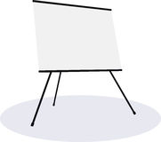 Empty presentation flipchart board Stock Photos