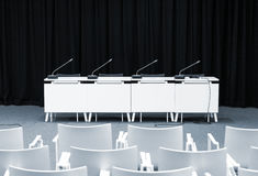 Empty press conference room Royalty Free Stock Photos