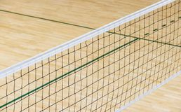 Empty professional volleyball court . Team sport.  stock images