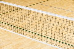 Empty professional volleyball court. Team sport.  royalty free stock photography