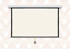 Empty projection screen Stock Photography
