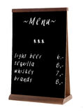 Empty pub chalk board stand (people stopper) Stock Image