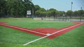 Empty public baseball diamond field