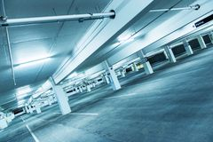 Empty Public Parking Royalty Free Stock Photography