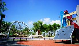 Empty public playground Stock Photos