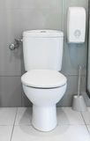Empty public toilet. Royalty Free Stock Photo