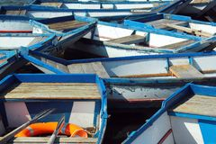 Empty punt boats at a pier Stock Photography