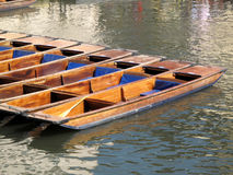 Empty Punts On The River Cam Royalty Free Stock Photo