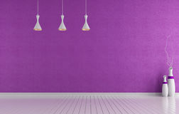 Empty purple room Royalty Free Stock Image